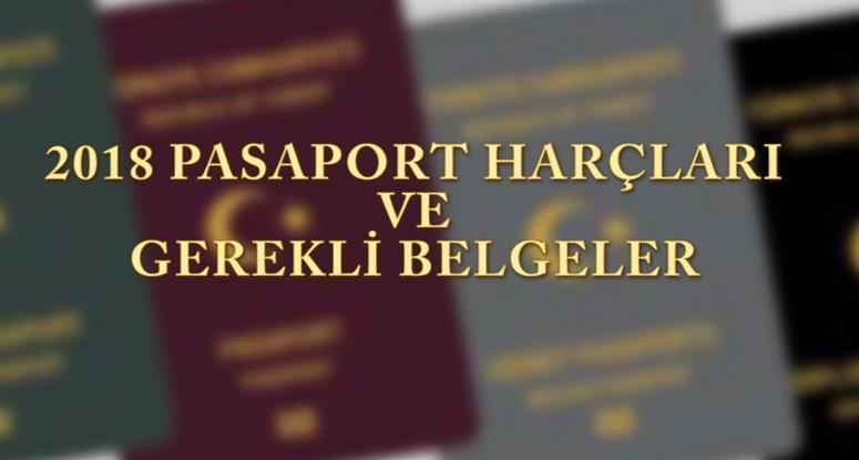 2018 pasaport harçları ve cüzdan bedelleri