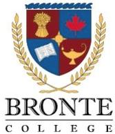 bronte college, logo